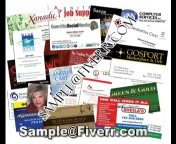 do business Visiting Post Card in Few Hours