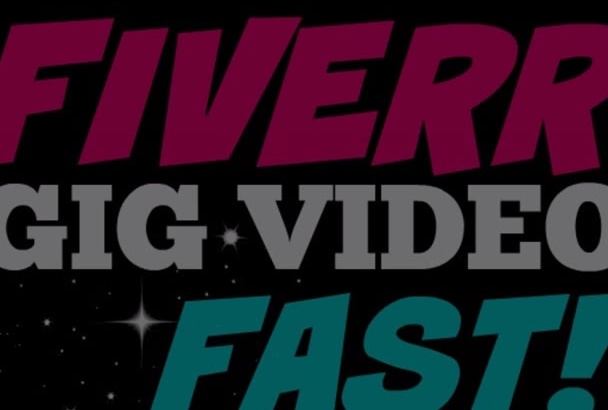 design an attention grabbing fiverr gig video fast