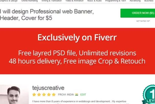 design Professional web Banner, Header, Cover