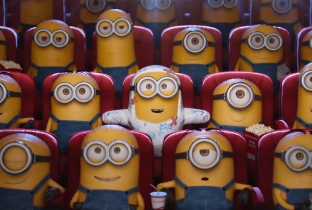 make minion laugh and funny when they watch your logo