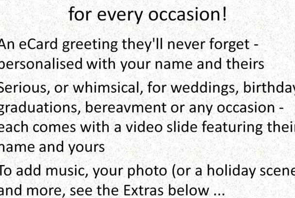 create a personalised audiovisual greeting card