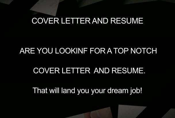 create rewrite or IMPROVE your resume cv and cover letter