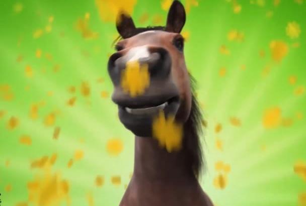 make Amazing advertising with Horse Tongue