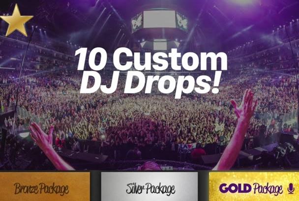 record you 10 custom DJ drops