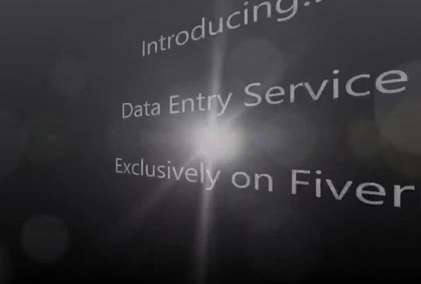 do data entry, 2 hours