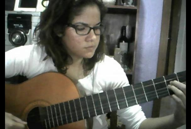 darte media hora de clases de guitarra por skype por 5