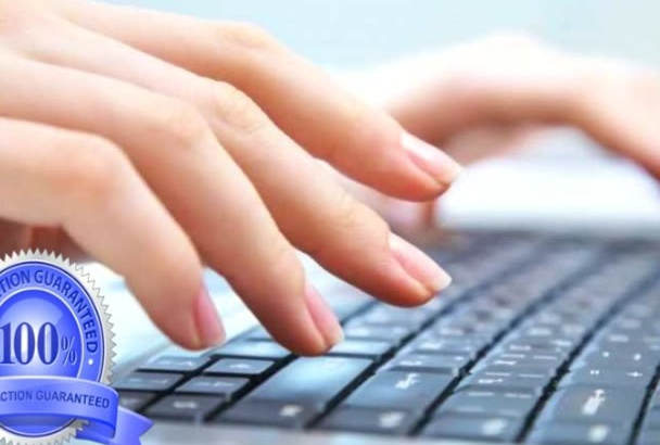 do any type of Data Entry works