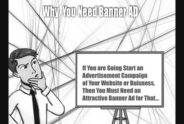 design attractive web banner ads design with fast service