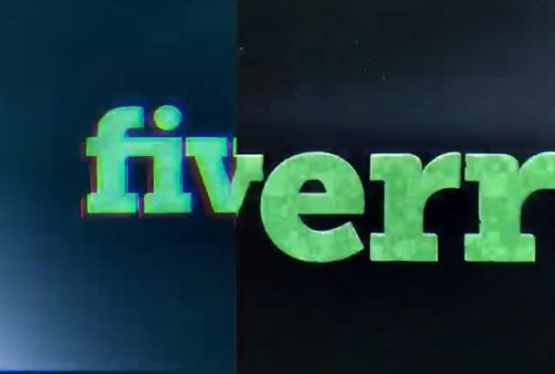 make this Ultimate Glitch Logo Intro Video