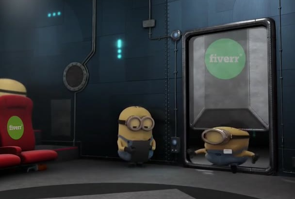 make funny minion promotional video to promote your business