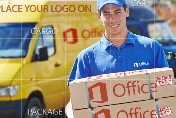 place your logo on Courier DELIVERY Paper Package Box Parcel