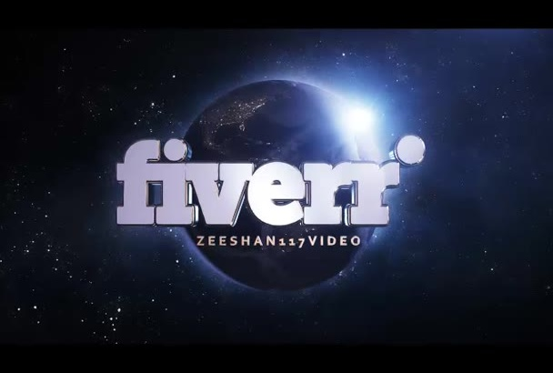 make 3d earth with logo reveal intro in hd