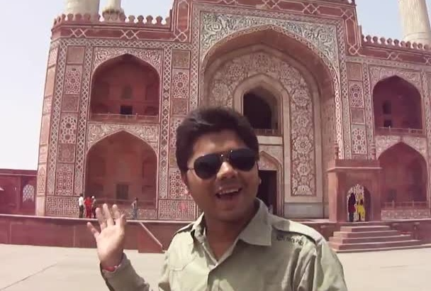 record a video at Mughal King Akbar Royal Palace