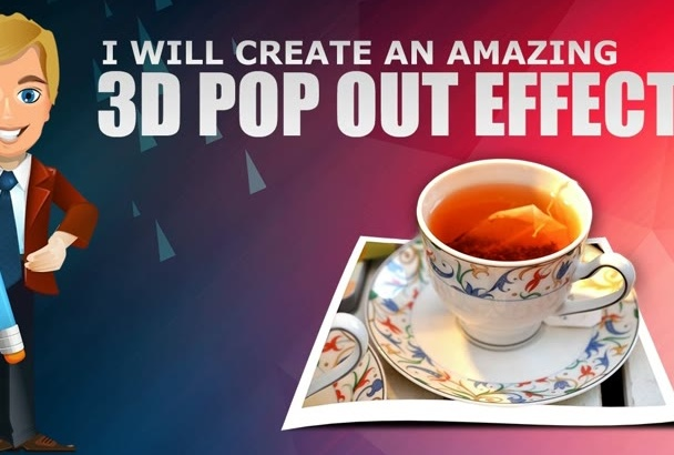 create an artistic 3D Pop Out effect within 24 hours