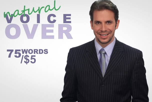 perform a natural Voice Over, Tutorial or Narration in 24h