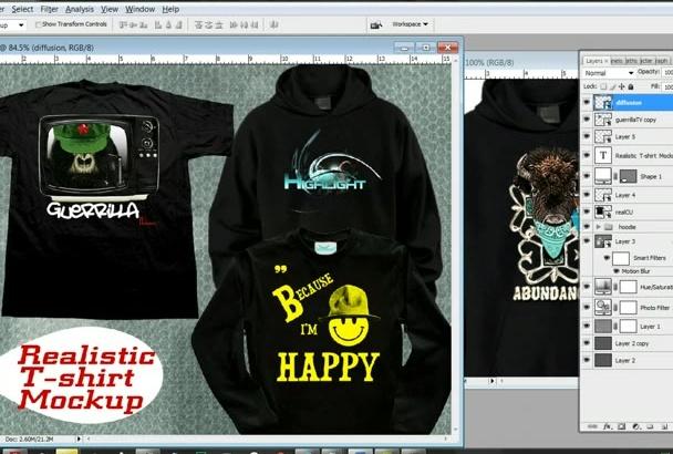 make Tshirt Mockup 3 Files Realistic Longsleeve and Hoodie