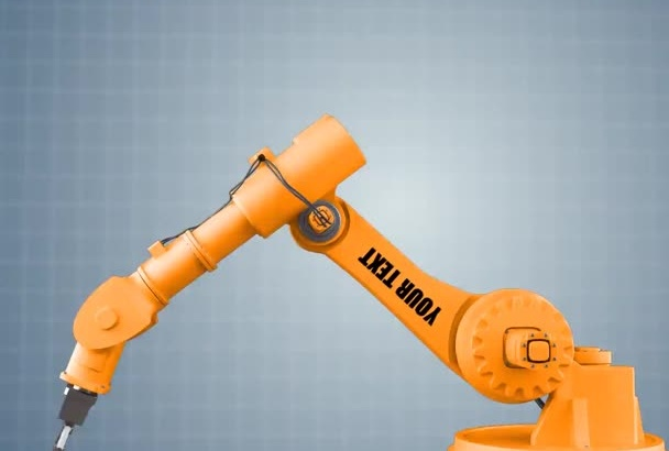 in just1day create industrial robot video holding your logo