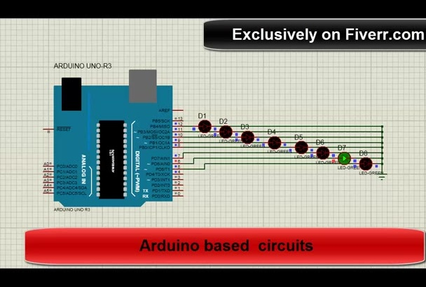 create simulation video of an electronic circuit