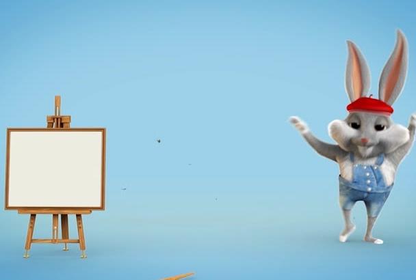 make a cartoon character logo animation