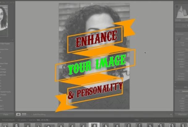 edit and enhance your headshots