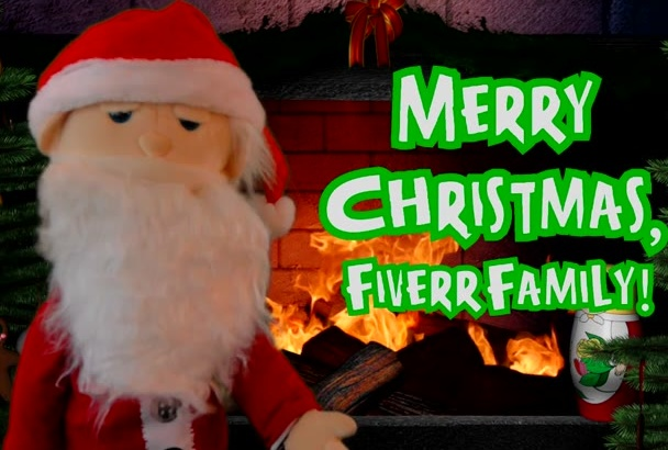 create a Santa Puppet video message for Christmas in English or in Spanish