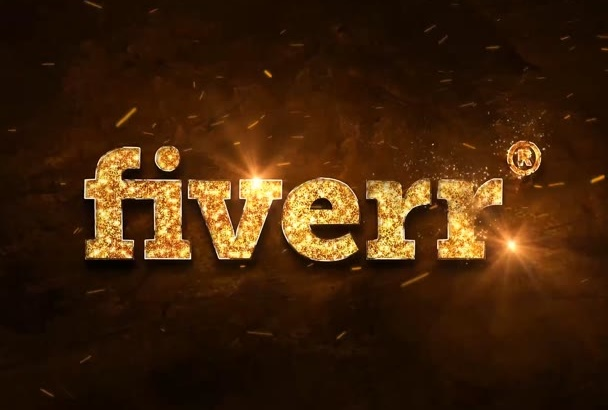 design this GOLD effect animated logo video intro