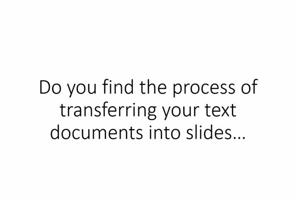 create powerpoint slides from your text documents