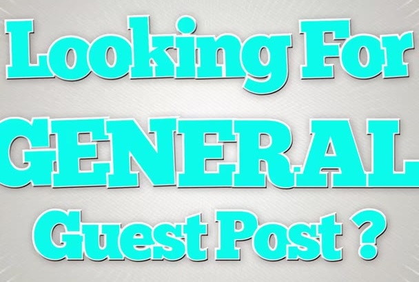 give you a guest post on PR5 General Niche blog