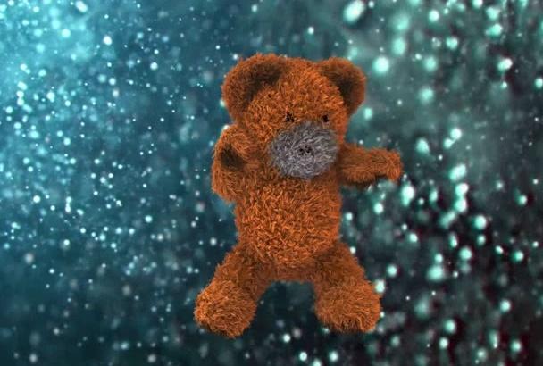 create Teddy bear vintage dance with Hip Hop