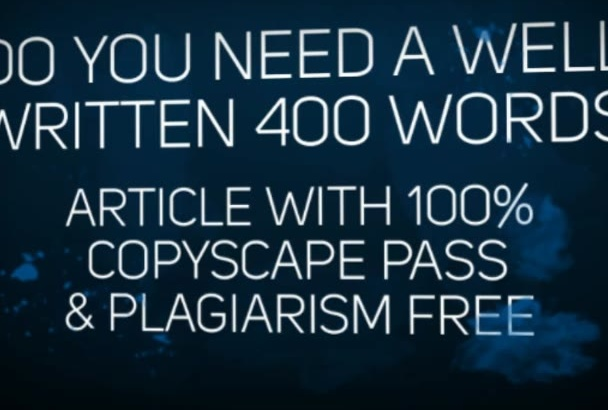 write the BEST 400 words article
