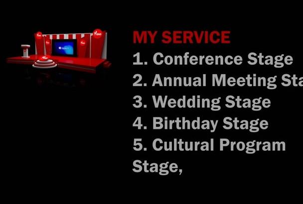 make 3D Stage Design For Any Program