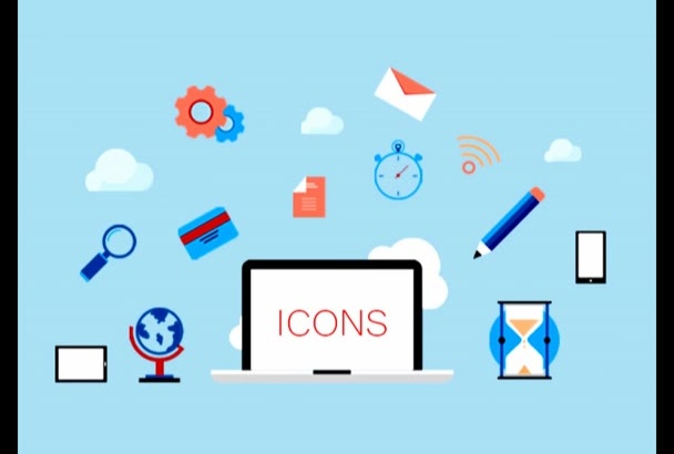 design any type of icon for app or website