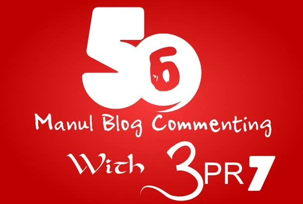 provide LONELY Gig 50 Manual Backlinks From Blog Comment With 2PR7 On ActualPage
