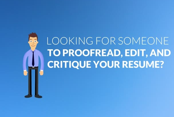 proofread and improve your resume