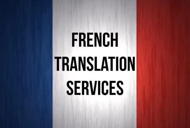 translate English, Spanish or Italian into French