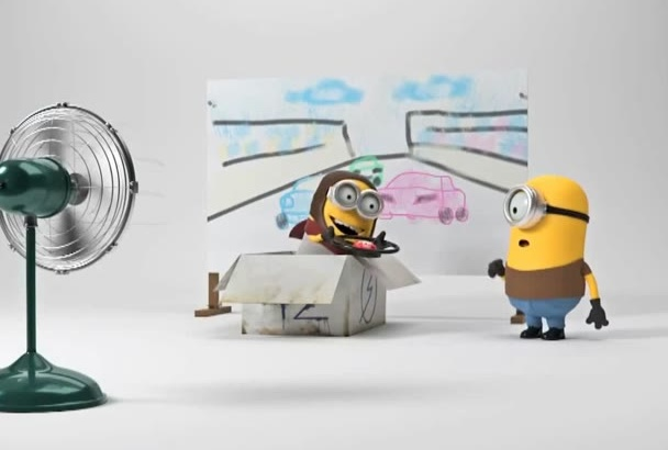 put your logo and text in this MINIONS animated video