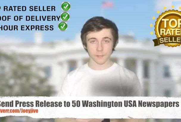 send Press Release to 50 Washington USA Newspapers
