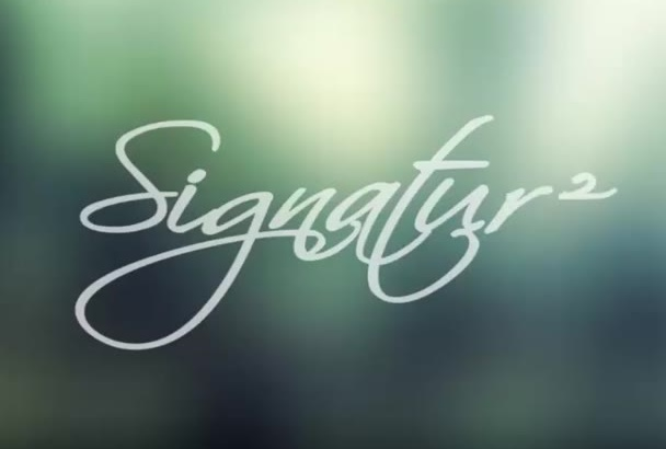 do animation of your handwritten signature style logo