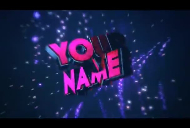 create a 3D intro for your YouTube channel