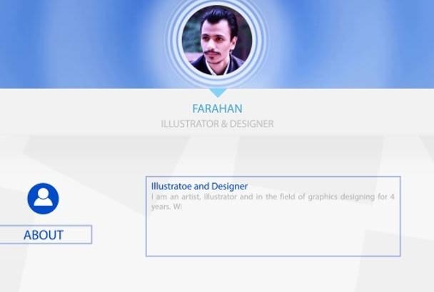 design or animate your resume or portfolio elegantly