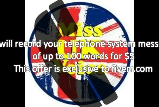record your 100 word telephone system message