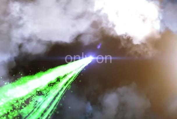 do an amazing light streak logo reveal