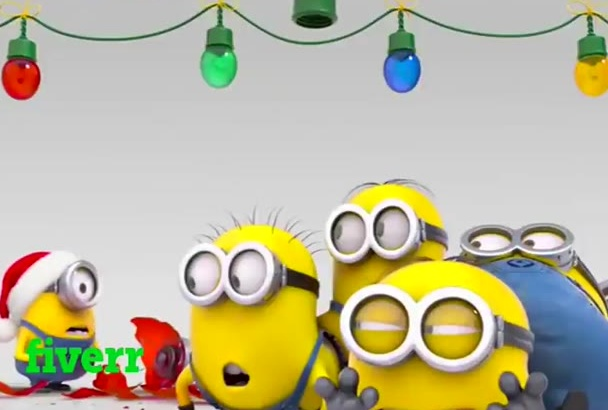 make minions Christmas funny video with your logo and text