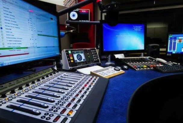 record a  radio commercial or voice over