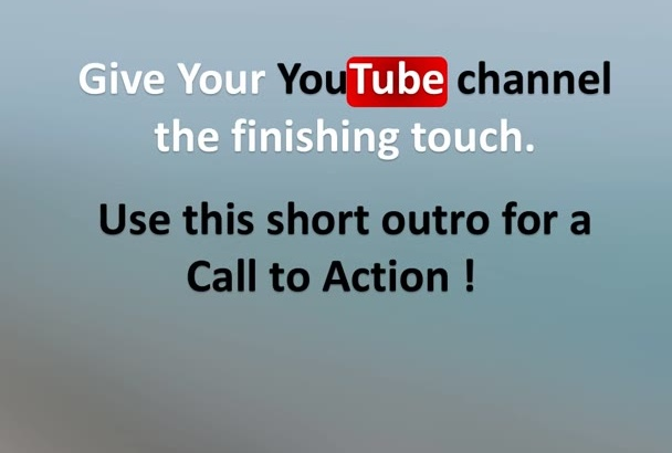 make YouTube outro for subscription boost