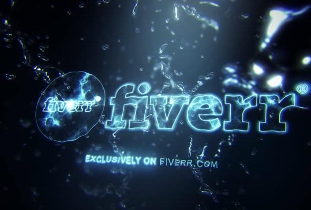 create a Logo Opener with Water Splashing 3D