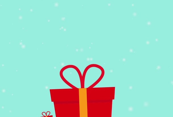 create Christmas flat animation and decorate your logo
