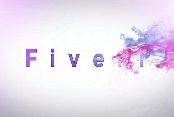 make 5 professional logo animation intro