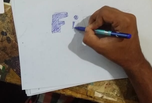 draw your message or logo and make a time lapse