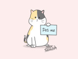 create cute illustration holding your sign